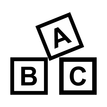 abc: ABC blocks toy simple icon for web and mobile devices Illustration
