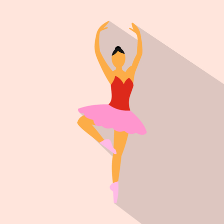 ballerina silhouette: Ballerina flat icon for web and mobile devices