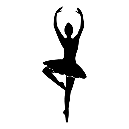 ballerina silhouette: Ballerina simple icon for web and mobile devices