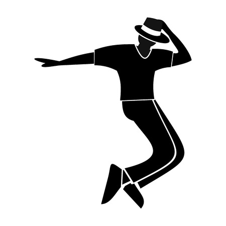 Dance flat symbol for web and mobile devices Illustration