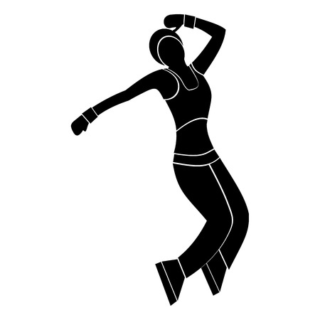 funk: Nice dance simple symbol for web and mobile devices Illustration