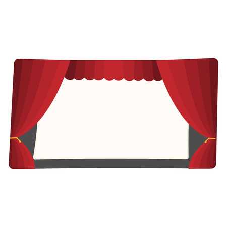 settings: Cartoon theater stage  isolated on white background Illustration
