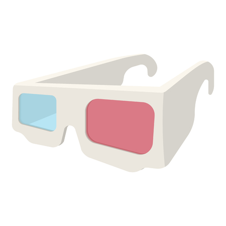 stereoscope: 3D Glasses cartoon icon isolated on white background