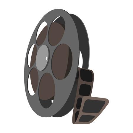 videotape: Videotape cartoon icon isolated on white background