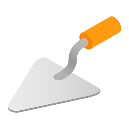 Trowel isometric 3d icon isolated on white background