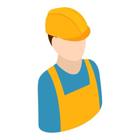 trabajadores: Trabajador isométrica 3d icono aislado en el fondo blanco