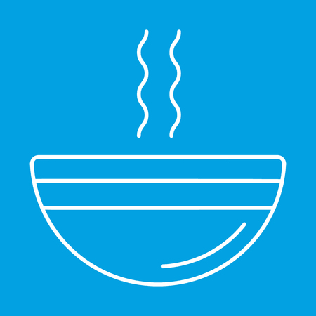 cereal bar: Soup thin line icon for web and mobile devices Illustration