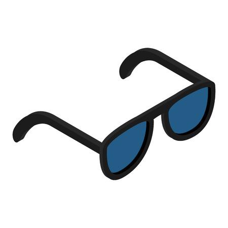 aviators: Sunglasses isometric 3d icon isolated on white background
