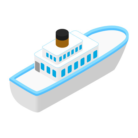 to pierce: Cruise sea ship isometric 3d icon isolated on white background