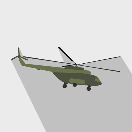 millitary: Helicopter flat icon for web and mobile devices