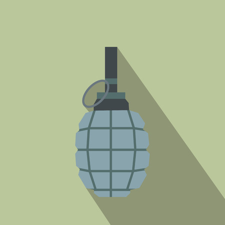 grenade: Hand grenade flat icon for web and mobile devices