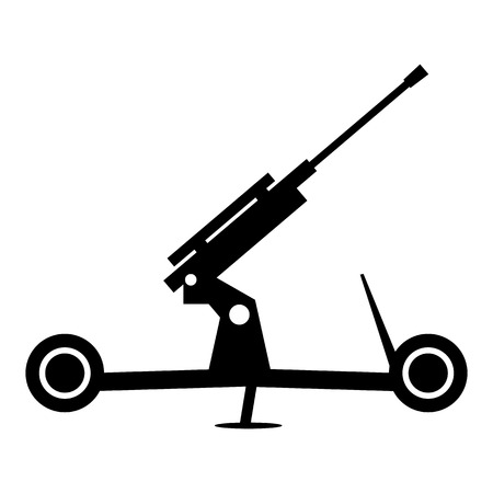 howitzer: Howitzer artillery simple icon for web and mobile devices Illustration