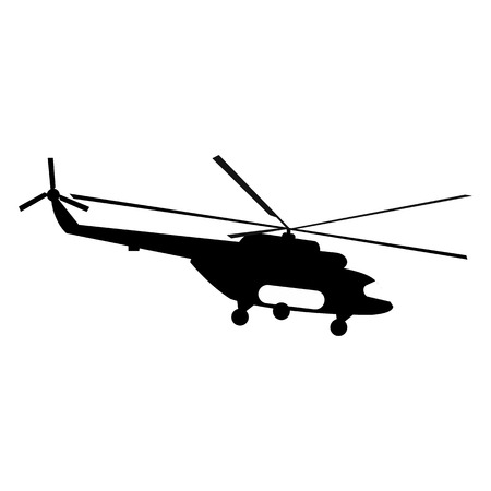 millitary: Helicopter simple icon for web and mobile devices Illustration