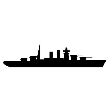 the destroyer: Warship simple icon for web and mobile devices
