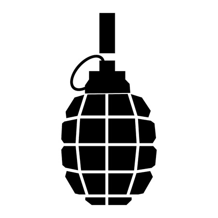 hand grenade: Hand grenade simple icon for web and mobile devices