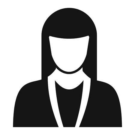 simple girl: New girl avatar simple icon for web and mobile devices