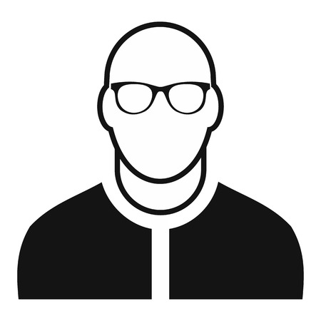 bald man: Bald man avatar simple icon for web and mobile devices