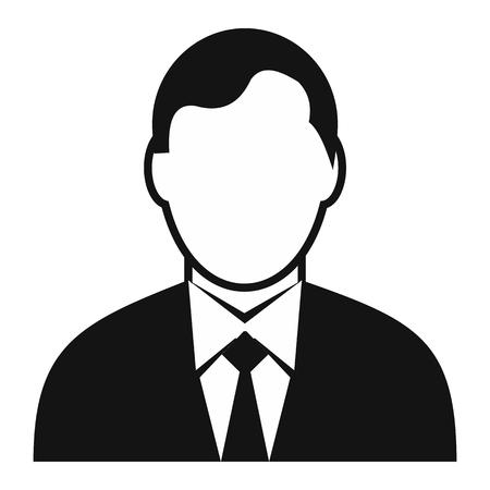Homme d'affaires avatar icône simple pour les dispositifs web et mobiles Illustration