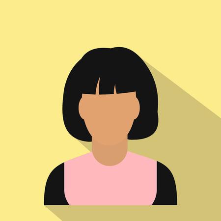 simbol: Donna avatar simbol per i dispositivi web e mobile
