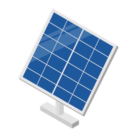 paneles solares: El panel solar icono 3D isométrico para web y dispositivos móviles