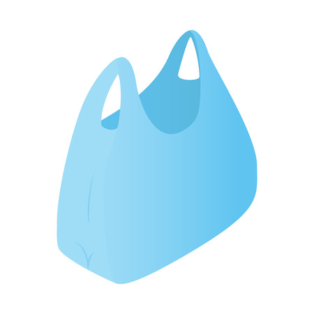 Plastic bag isometric 3d icon for web and mobile devices