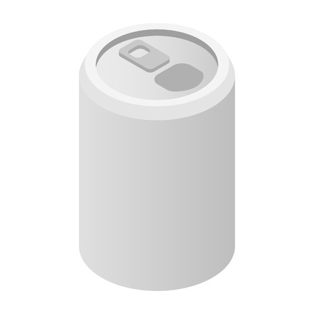 aluminum can: Aluminum can isometric 3d icon isolated on white background