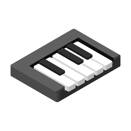 keyboard instrument: Piano keys isometric 3d icon for web and mobile devices