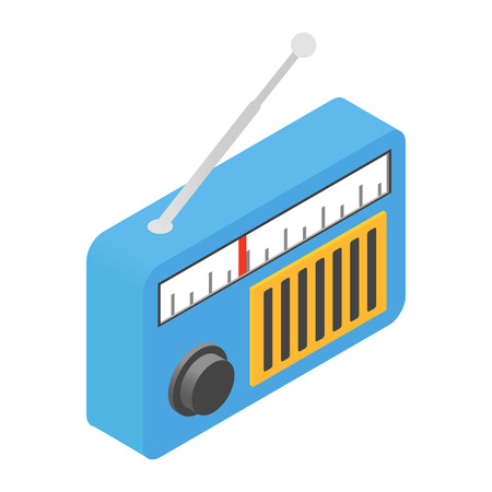 Radio isometric 3d icon for web and mobile devices