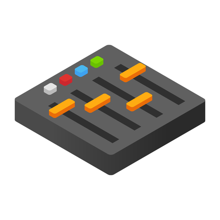 mixing board: Audio mixer isometric 3d icon for web and mobile devices
