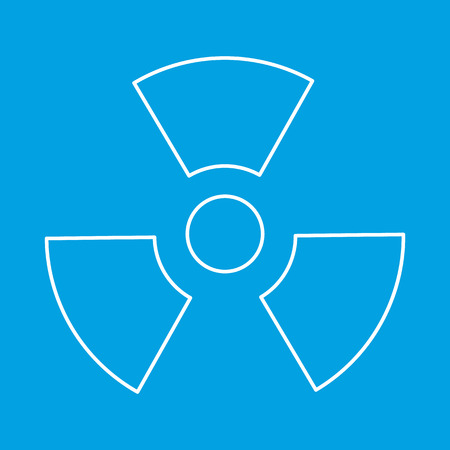 radium: Radiation thin line icon for web and mobile devices