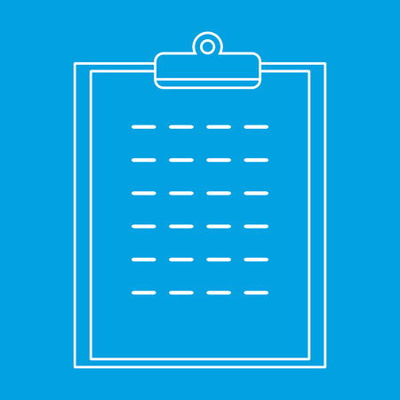 filling folder: Checklist thin line icon for web and mobile devices