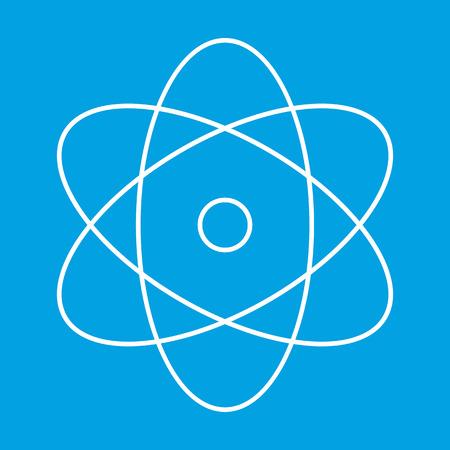 el atomo: Atom icono de l�nea delgada para web y dispositivos m�viles