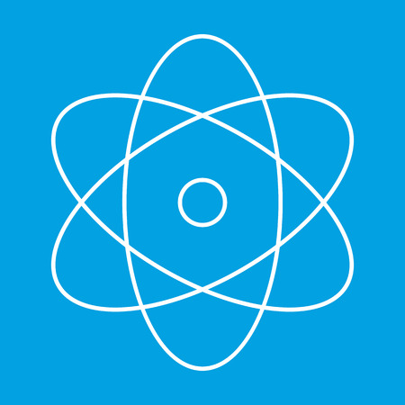 atom: Atom thin line icon for web and mobile devices Illustration