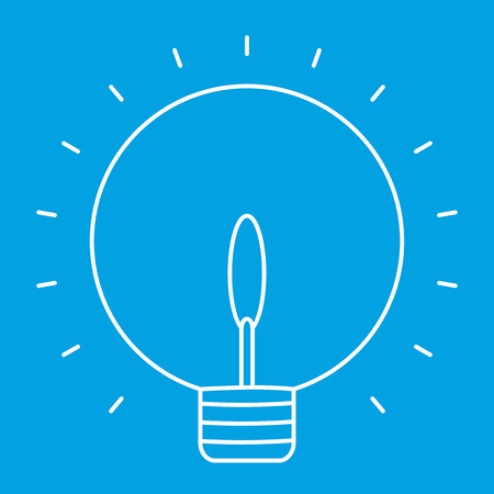 scriibble: Lightbulb thin line icon for web and mobile devices