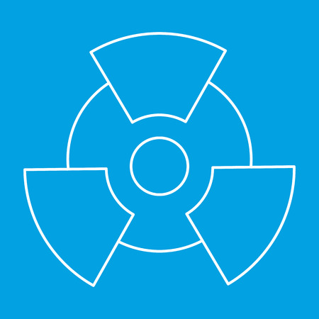 radium: New radiation thin line icon for web and mobile devices