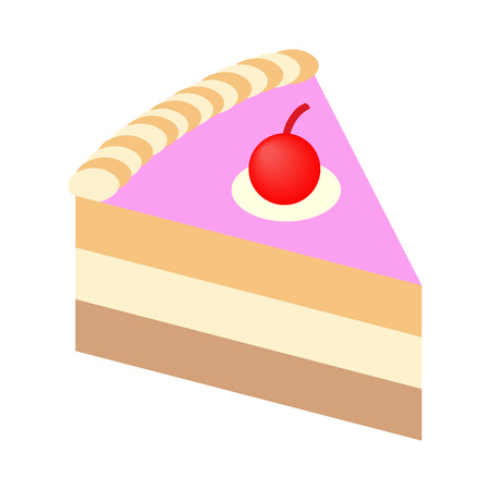 piece of cake: Piece of cake isometric 3d icon for web and mobile devices Illustration
