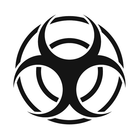 art blog: Biohazard sign round simple icon isolated on white background