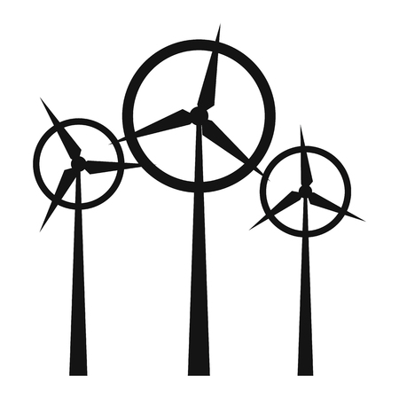 milling: Wind turbine simple icon isolated on white background