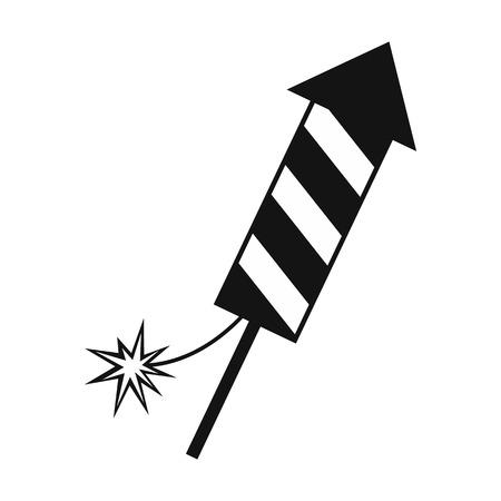 skyrocket: Firecracker christmas simple icon isolated on white background Illustration