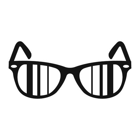 aviators: Sunglasses simple icon for web and mobile devices