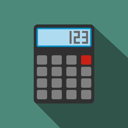 calculator: Calculator flat icon. Single illustration on a green background Illustration