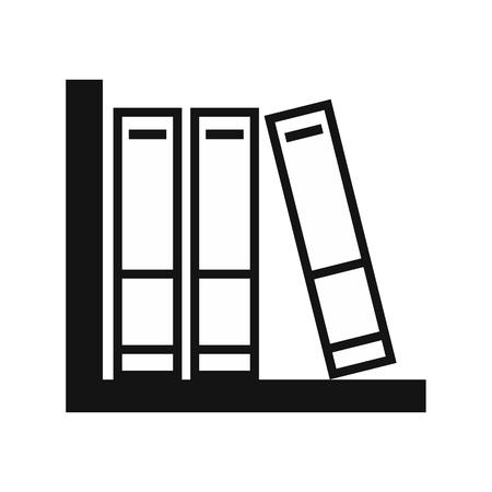 folder: Folders on the shelf simple icon isolared on white background