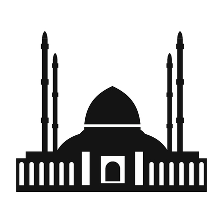 hagia sophia: Mosque simple icon isolated on white background Illustration