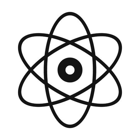 atomo: Átomo simple icono moderno aislado en el fondo blanco