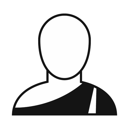 buddhist: Buddhist monk simple icon.  Single character in national dress