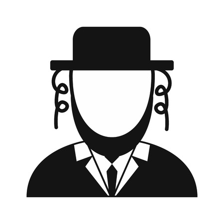 hassid: Rabbi simple icon isolated on white background