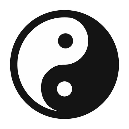 yin yang simple icon isolated on white background royalty free rh 123rf com Cool Yin Yang Yin Yang Painting