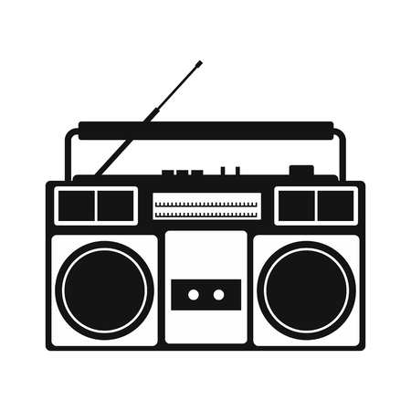 speaker box: Boombox simple icon isolated on white background