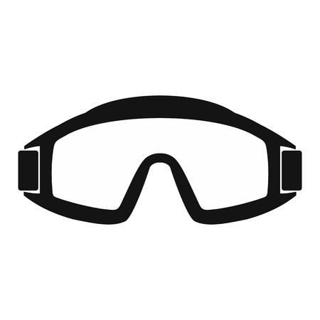 Paintball goggles simple icon isolated on white background
