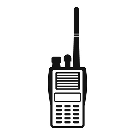 Military radio simple icon. Shortwave radio transmitter for paintball on a green background
